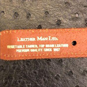 Leather Man Accessories - Leather Man Woven Khaki Belt